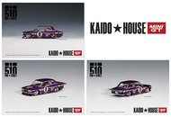 DATSUN 510 PRO STREET KAIDO HOUSE OG PURPLE 1/64 SCALE DIECAST CAR MODEL BY TSM MINI GT KHMG002