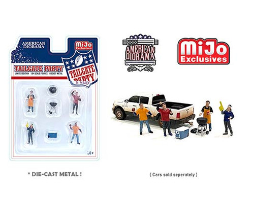 TAILGATE PARTY FOOTBALL BBQ 1/64 SCALE DIECAST CAR MODEL AMERICAN DIORAMA 76470