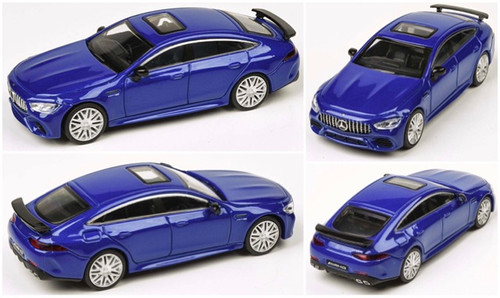 MERCEDES BENZ AMG GT 63S METALLIC BLUE 1/64 SCALE DIECAST CAR MODEL BY PARAGON PARA64 55281
