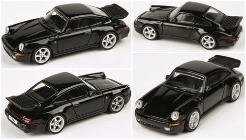 PORSCHE RUF AUTOMOBILE CTR YELLOWBIRD BLACK 1/64 SCALE DIECAST CAR MODEL BY PARAGON PARA64 55292