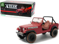 1981 JEEP CJ-7 RED DIRTY THE A-TEAM TV SERIES 1/18 SCALE DIECAST CAR MODEL BY GREENLIGHT 19091