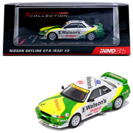 NISSAN SKYLINE GT-R R32 #2 WATSONS MACAU GUIA RACE 1991 MARK SKAIFE 1/64 SCALE DIECAST CAR MODEL BY INNO64 IN64-R32-MGP20WS