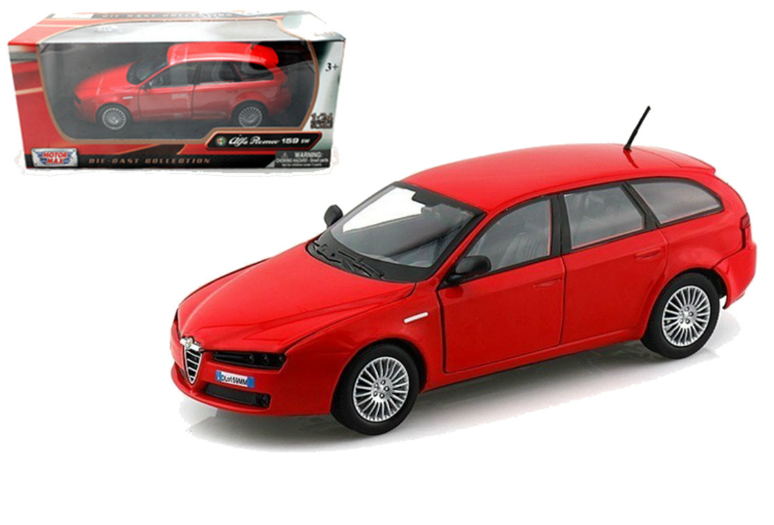 Alfa Romeo 159 Sw Wagon Red 1 24 Scale Diecast Car Model By Motor Max 73372
