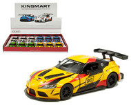 TOYOTA GR SUPRA RACING CONCEPT LIVERY BOX OF 12 PULL BACK ACTION 1/38 SCALE BY KINSMART 5421DF