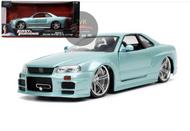 NISSAN SKYLINE GT-R BNR34 FAST & FURIOUS 1/24 SCALE DIECAST CAR MODEL BY JADA TOYS 32608