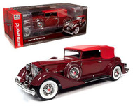 1934 PACKARD V12 VICTORIA BURGUNDY 1/18 SCALE DIECAST CAR BY AUTO WORLD AW271