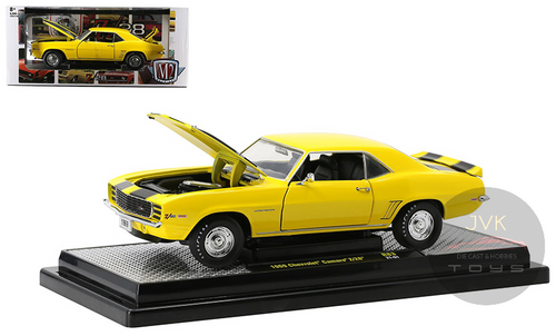 1969 CHEVROLET CAMARO Z28 DAYTONA YELLOW 1/24 SCALE DIECAST CAR MODEL BY M2 MACHINES 40300-83A