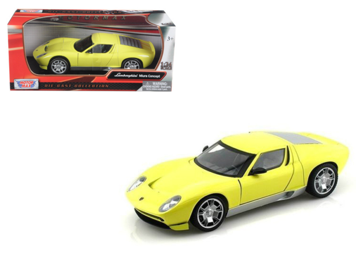 Lamborghini Miura Concept Yellow 1 24 Scale Diecast Car Model By