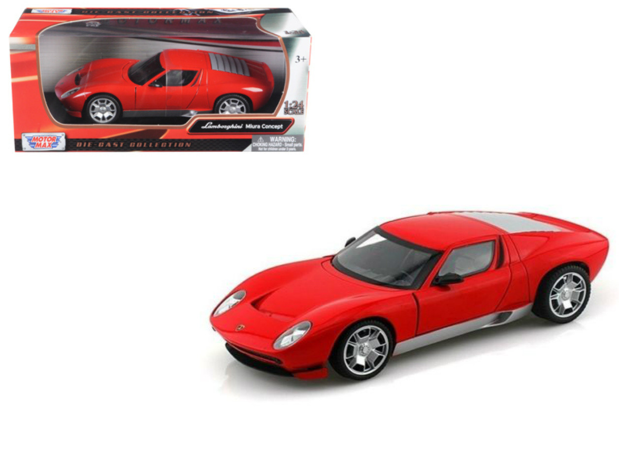 Lamborghini Miura Concept Red 1 24 Scale Diecast Car Model By