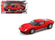 Lamborghini Miura Concept Red 1/24 Scale Diecast Car Model By Motor Max 73367