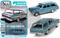 1963 CHEVROLET II NOVA 400 STATION WAGON AZURE AQUA POLY 1/64 SCALE DIECAST CAR MODEL BY AUTO WORLD AWSP067
