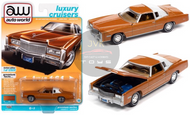 1975 CADILLAC ELDORADO MANDARIN ORANGE METALLIC 1/64 SCALE DIECAST CAR MODEL BY AUTO WORLD AWSP070