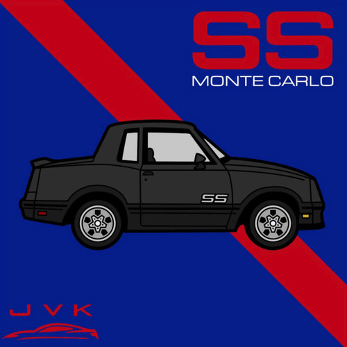MONTE CARLO SS BLACK ENAMEL LAPEL PIN JVK TOYS EXCLUSIVE LIMITED EDITION NUMBERED FROM 1 TO 100