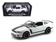 2013 Ford Mustang Boss 302 White 1/18 Scale Diecast Car Model By Shelby Collectibles SC 452
