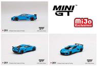 2020 CHEVROLET CORVETTE STINGRAY C8 RAPID BLUE 1/64 SCALE DIECAST CAR MODEL BY TSM MINI GT MGT00251