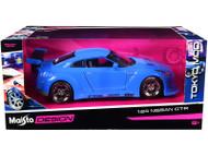 NISSAN GT-R BLUE TOKYO MOD JDM 1/24 SCALE DIECAST CAR MODEL BY MAISTO 32526