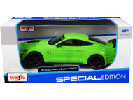 2020 FORD MUSTANG SHELBY GT500 GREEN 1/24 SCALE DIECAST CAR MODEL BY MAISTO 31532