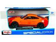 2020 FORD MUSTANG SHELBY GT500 ORANGE 1/24 SCALE DIECAST CAR MODEL BY MAISTO 31532