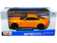 2015 FORD MUSTANG GT ORANGE 1/24 SCALE DIECAST CAR MODEL BY MAISTO 31508