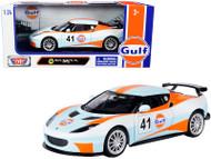 LOTUS EVORA GT4 GULF OIL 1/24 SCALE DIECAST CAR MODEL BY MOTOR MAX 79660