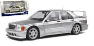 1990 MERCEDES BENZ 190E 2.5-16 EVO II SILVER 1/18 SCALE DIECAST CAR MODEL BY SOLIDO 1801005