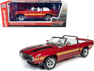 1970 FORD MUSTANG SHELBY GT500 CONVERTIBLE RED 1/18 SCALE DIECAST CAR MODEL BY AUTOWORLD AMM1187
