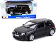 VOLKSWAGEN GOLF R32 MATT BLACK 1/24 SCALE DIECAST CAR MODEL BY MAISTO 31290