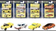 MATCHBOX 1/64 COLLECTOR SET OF 4 CHEVY TRUCK MOONEYES BMW 2002 I8 LAND ROVER