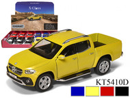 """MERCEDES BENZ X CLASS BOX OF 12 1/42 1/43 SCALE 5"""" LONG PULL BACK DIECAST TRUCK BY KINSMART 5410D"""