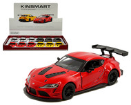 TOYOTA GR SUPRA RACING CONCEPT LIVERY BOX OF 12 PULL BACK ACTION 1/38 SCALE BY KINSMART 5421D