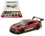 BENTLEY CONTINENTAL GT3 BOX OF 12 PULL BACK ACTION 1/38 SCALE BY KINSMART 5417D
