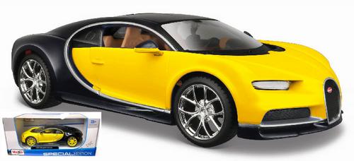BUGATTI CHIRON YELLOW 1/24 SCALE DIECAST CAR MODEL BY MAISTO 31514