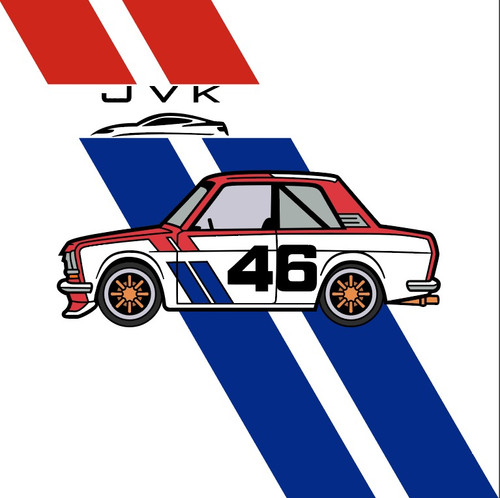 DATSUN 510 BRE ENAMEL LAPEL PIN JVK TOYS EXCLUSIVE LIMITED EDITION NUMBERED FROM 1 TO 100