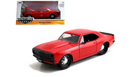 1967 CHEVROLET CAMARO RED 1/24 SCALE DIECAST CAR MODEL BY JADA TOYS 99752