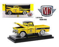 1958 CHEVROLET APACHE CAMEO PICKUP TRUCK MOONEYES 1/24 SCALE DIECAST CAR MODEL BY M2 MACHINES 40300-86B