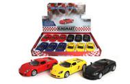"PORSCHE CARRERA GT 4 COLORS BOX OF 12 PULL BACK 4.6"" LONG 1/36 SCALE DIECAST CAR MODEL BY KINSMART KT5081D"