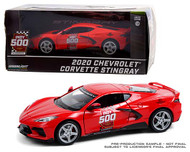 2020 CHEVROLET CORVETTE STINGRAY 104TH INDIANAPOLIS 500 INDY 500 OFFICIAL PACE CAR 1/24 SCALE DIECAST CAR MODEL BY GREENLIGHT 18258