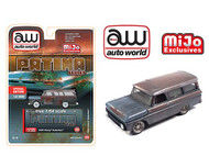 1965 CHEVROLET SUBURBAN WEATHERED RUSTY 3600 MADE LIMITED EDITION PATINA SERIES 1/64 SCALE DIECAST CAR MODEL BY AUTO WORLD CP7797