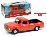 1971 CHEVROLET C10 PICK UP TRUCK GROUNDHOG DAY 1/24 SCALE DIECAST CAR MODEL BY GREENLIGHT 84131