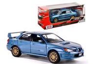 SUBARU IMPREZA WRX STI BLUE 1/24 SCALE DIECAST CAR MODEL BY MOTOR MAX 73330