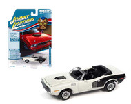 1971 PLYMOUTH CUDA CONVERTIBLE SNO WHITE 1/64 SCALE DIECAST CAR MODEL BY JOHNNY LIGHTNING JLSP153