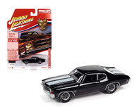 1971 CHEVROLET CHEVELLE SS 454 GLOSS BLACK 1/64 DIECAST CAR MODEL JOHNNY LIGHTNING JLSP154