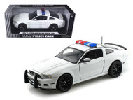 2013 Ford Mustang Boss 302 White Police 1/18 Scale Diecast Car Model By Shelby Collectibles SC 463