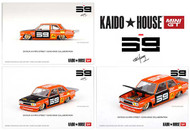 DATSUN 510 PRO STREET KAIDO HOUSE SK510 ORANGE 1/64 SCALE DIECAST CAR MODEL BY TSM MINI GT KHMG004