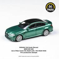 BMW M3 G80 GREEN 1/64 SCALE DIECAST CAR MODEL BY PARAGON PARA64 55201