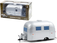 AIRSTREAM 16' BAMBI SPORT CAMPER TRAILER SILVER 1/24 SCALE DIECAST MODEL BY GREENLIGHT 18460 A