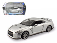 2009 Nissan GT-R Silver 1/24 Scale Diecast Car Model By Maisto 31294