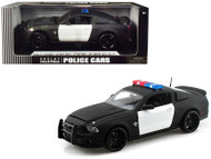 2012 Ford Shelby GT500 Super Snake Police Plain Black & White 1/18 Scale Diecast Car Model By Shelby Collectibles SC 462