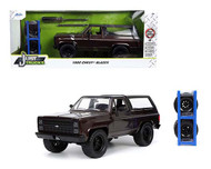 1980 CHEVROLET BLAZER BROWN WITH EXTRA WHEELS JUST TRUCKS 1/24 SCALE DIECAST CAR MODEL BY JADA TOYS 33017