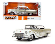1955 CHEVROLET BEL AIR WITH FLAMES 1/24 SCALE DIECAST CAR MODEL BY JADA TOYS 32917